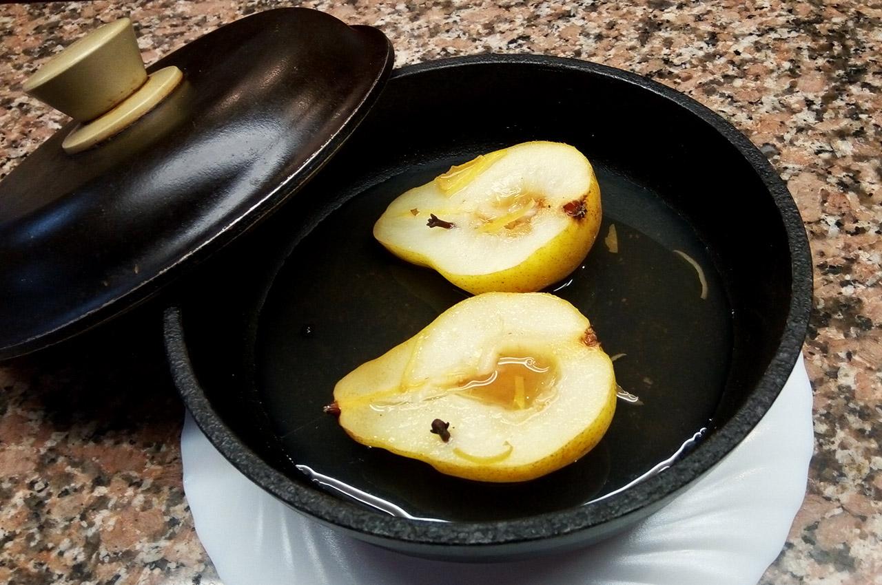 Peras especiadas - Chef Luly Lopez Arias - 3